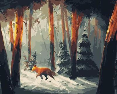 Winter Fox DIY Paint By Numbers Canvas
