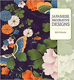 2021 Japanese decorative design calendar