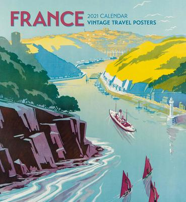 France Vintage Travel Poster Wall Calendar 2021