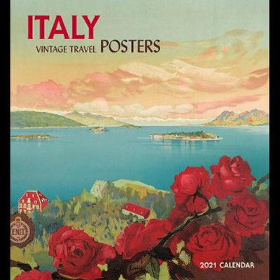 Large italy vintage travel posters 2021 wall calendar