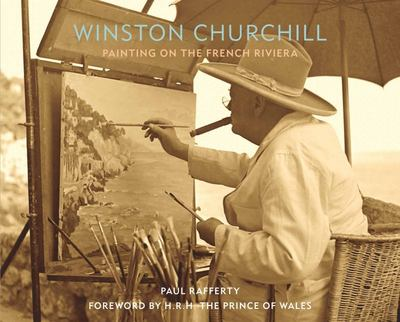 Winston Churchill Painting on the French Riviera