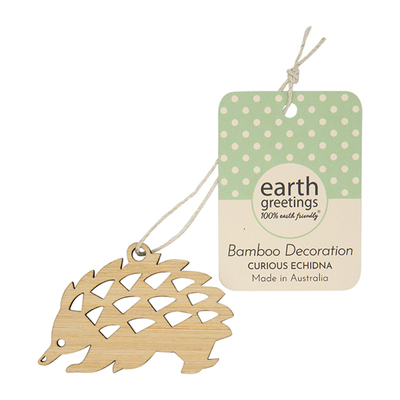 Mini Bamboo Decoration - Curious Echidna