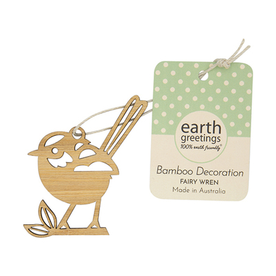 Mini Bamboo Decoration - Fairy Wren