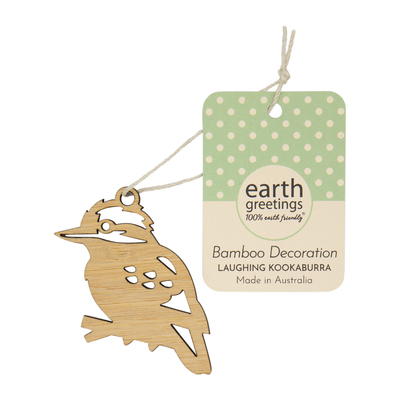 Mini Bamboo Decoration - Laughing Kookaburra