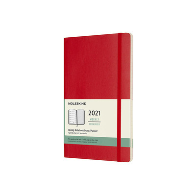 2021 Weekly Notebook Red Large Softcover Diary Moleskine