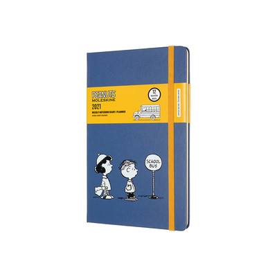 2021 Peanuts Weekly Notebook BlueTrim Pocket Hardcover Diary Moleskine