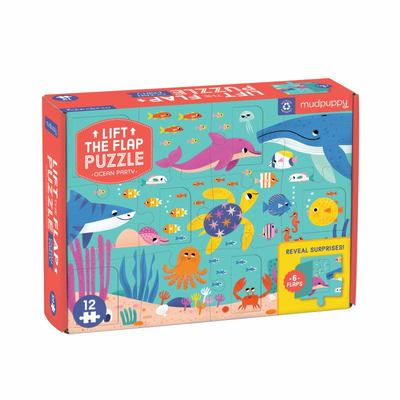 Ocean Party Lift-The-Flap Puzzle (12pcs)