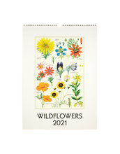 Homepage cavallini 2021 wildflowers wall calendar
