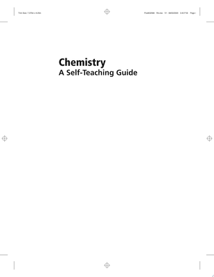Chemistry - Concepts and Problems, a Self-Teaching Guide