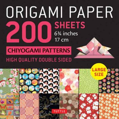 Origami Paper 200 Sheets Chiyogami Patterns 6. 75 (17cm)