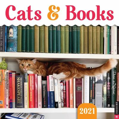 2021 Cats and Books Wall Calendar
