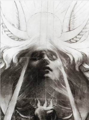 The Priestess by Jean Delville Poster