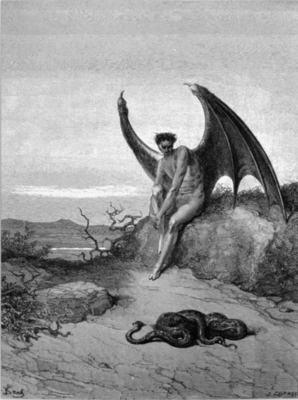Lucifer, the fallen angel Gustave Dore Poster