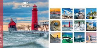 2021 Lighthouses  Wall Calendar (AQ-D21-CAL042)