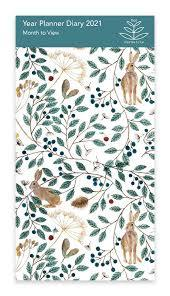 Year Planner - Hares and Berries 2021