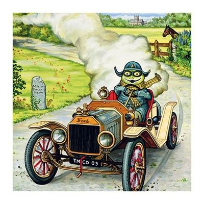 Card - The only way to travel - Wind in the Willows Toad