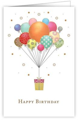 Card - Happy Birthday balloons 2421