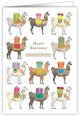 Card - Happy Birthday Llamas 3459