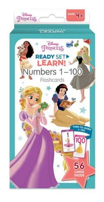 Disney Princess: Ready Set Learn! Numbers 1-100 Flash Cards