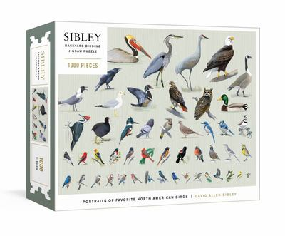 Sibley Backyard Birding Puzzle - 1000-Piece Jigsaw Puzzle with Portraits of Favorite North American Birds