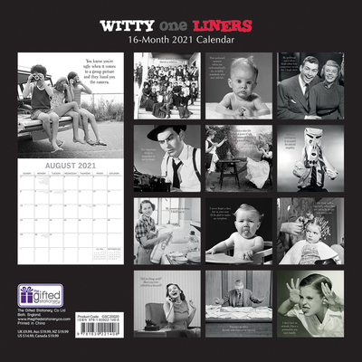 16 Month Calendar 2021: Witty One Liners