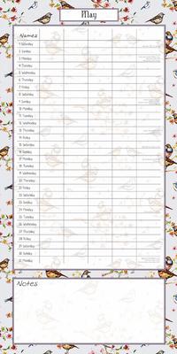16 Month Calendar 2021: Birdsong Family Organiser