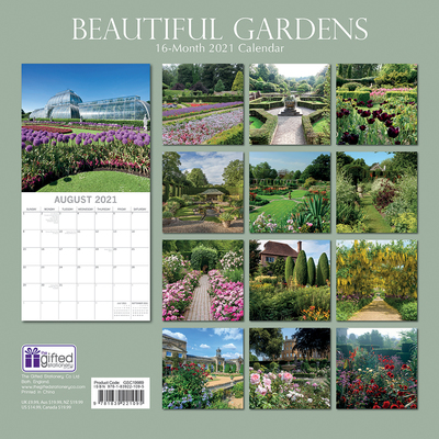 16 Month Calendar 2021: Beautiful Gardens