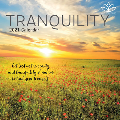 16 Month Calendar 2021: Tranquility