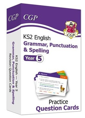 New KS2 English Practice Question Cards: Grammar, Punctuation & Spelling - Year 5
