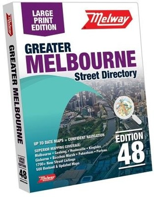 Melway Large Print Melbourne Street Directory 2021 48th Edition (ML48)