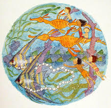 Into the Kingdom Large Round Alison Lester Print