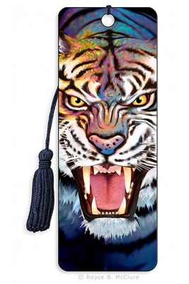 Tiger Growl 3D Bookmark