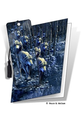 Wolf Pack 3D Bookmark Card