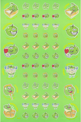 SS1009 Green Apple Stickers Scentsations Pack of 180 - ATA