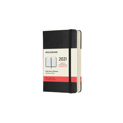 2021 Daily Black Pocket Hardcover Diary Moleskine
