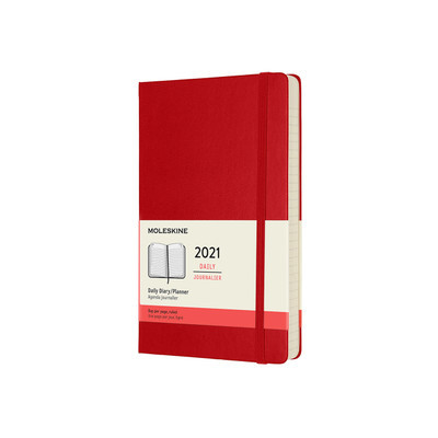 2021 Daily Red Large Hardcover Diary Moleskine