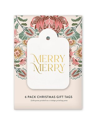 Merry Merry 6 Pack Christmas Gift tags
