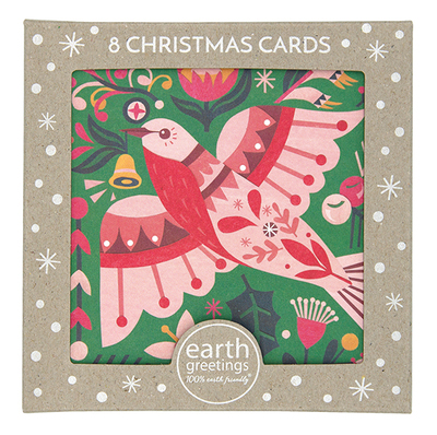 Boxed Christmas Cards - Flame Robin