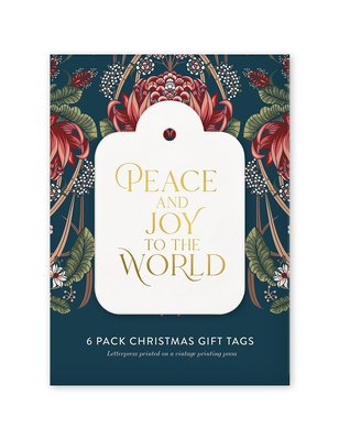Peace and Joy to the World 6 pack Christmas Gift Tags