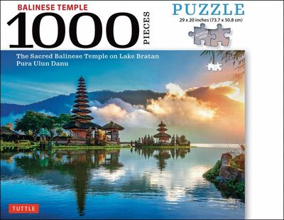 Bali Jigsaw Puzzle - 1,000 Pieces - Tanah Lot Seasode Temple or Bedugul Lakeshore Temple