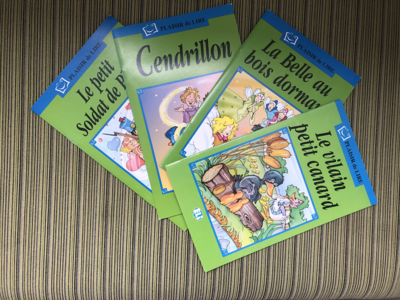 Plaisir de Lire - 4 book set of Fairytales (French)