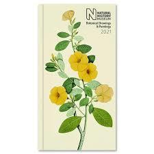 Natural History Museum Botanical Drawings 2021 Slim Diary