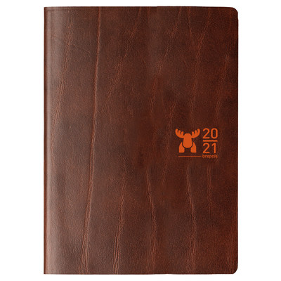 Diary Moose A5 Brown Recycled Leather 2021