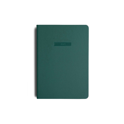 2021 MiGoals Diary Weekly+Notes A5-Soft Cover - Teal Green