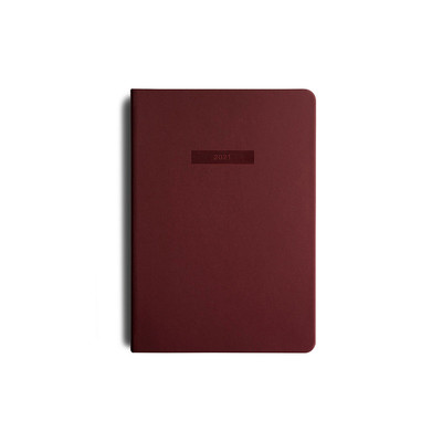 2021 MiGoals Diary Weekly A5-Soft Cover - Burgundy