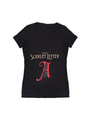 The Scarlett Letter T-shirt - womens medium