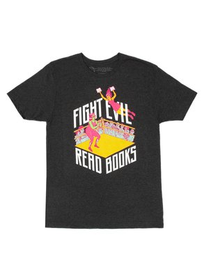 Fight Evil Read Books T-Shirt - Med