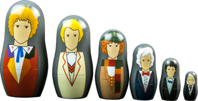 Doctor Who 1st-6th Doctor 6 piece Nestin