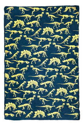 Wrap - Dinosaurs gold on navy