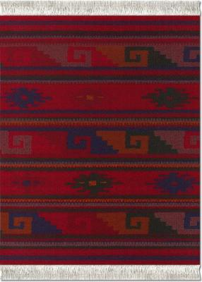 MouseRug Deep Red Zapotec Inspired